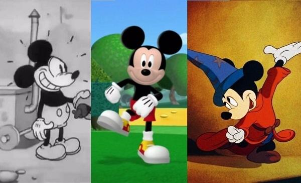 En los 90 años de Mickey Mouse, ¿cuál es su mejor diseño?