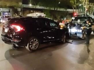 Intensa movilización por el robo de una camioneta en los límites del Edomex y la CDMX #VIDEO