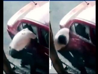Ladrón da cristalazo a un automóvil para robarse una tablet #VIDEO