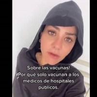 Tunden en redes a Nayeli Salvatori por defender prioridad en vacunación #VIDEO