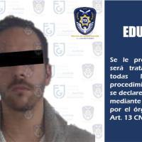 Liberan a Eduardo 'N', presunto agresor sexual de Daniela Berriel