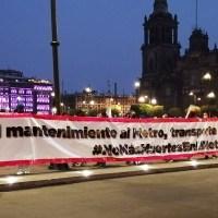 Protestan en Palacio Nacional por colapso en L12; alistan marchas