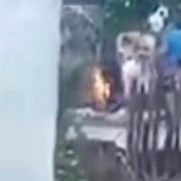 Rescatan a menor que habría sido quemado por su abuela, en Chiapas #VIDEO