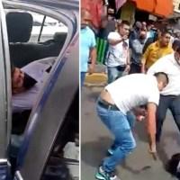 A golpes y palazos, pobladores bajan a ladrón de patrulla, en Tlalpan #VIDEO
