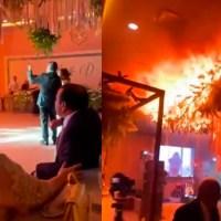 Boda en Torreón termina en incendio #VIDEO