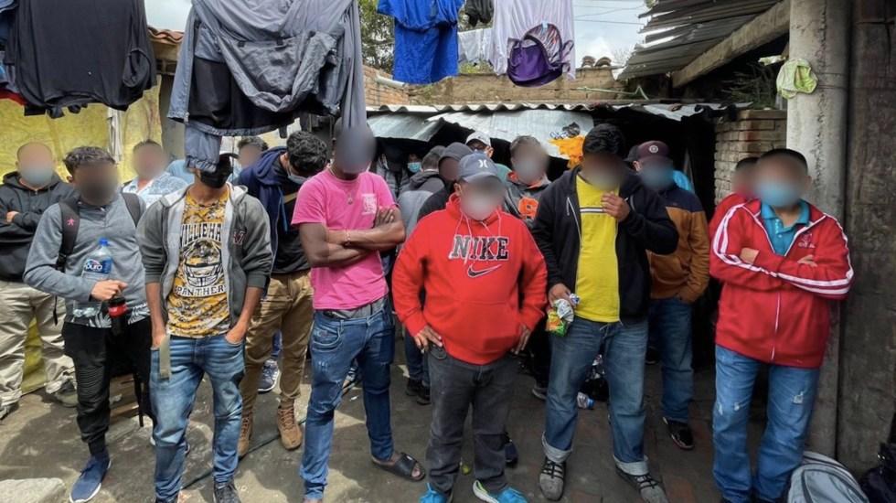 Hallan a 133 migrantes en casa de seguridad en Puebla