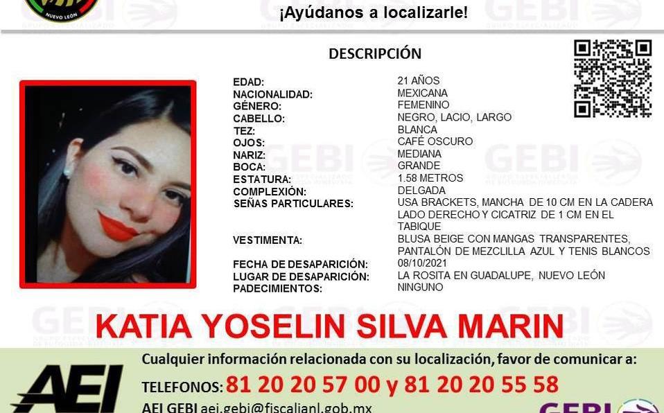 Piden ayuda para localizar a mujer desaparecida en Nuevo León