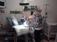 Nurse Brook giving tetanus shot