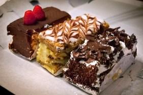 Trio of delicious desserts