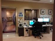 Tech preparing the MRI