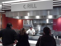 In line at the grill
