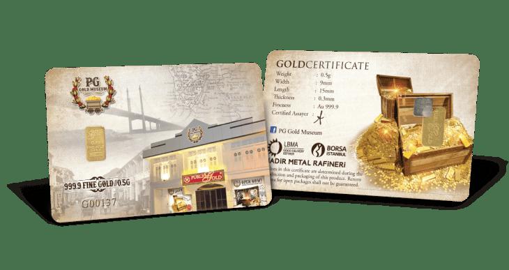 public gold 0.5 gram muzeum