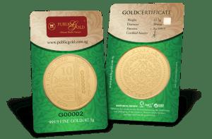 public gold 10 dinar
