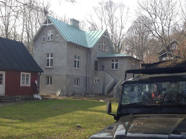 Kajak- och klättercenter under uppbyggnad i Mölle