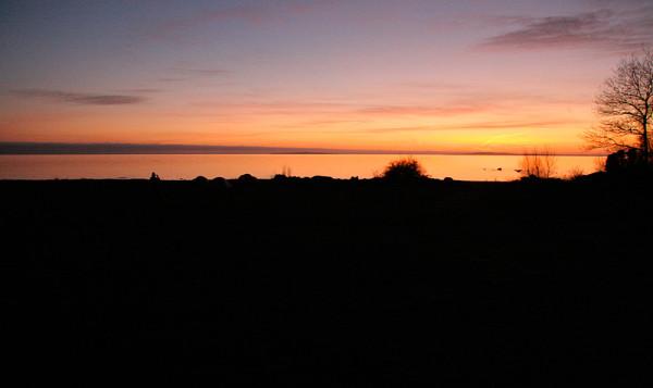 Snygg vy och solnedgång på Tärnö