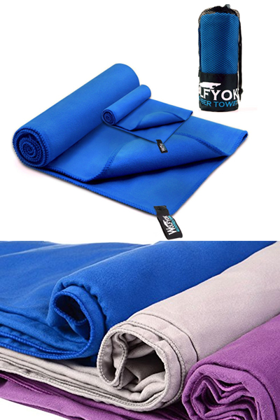 Wolfyok 2 Pack Microfiber Towel Set