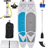 Vilano Journey 10' Inflatable SUP Stand up Paddle Board Kit - Board, Pump, Paddle & Bag