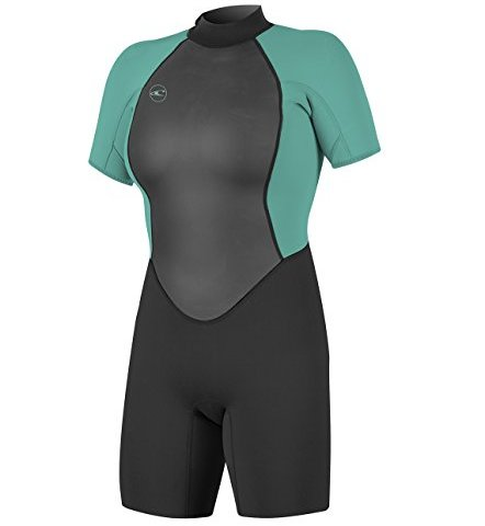 Vine Kids Shorty Wetsuit One Piece Swimsuits 2.5MM Neoprene Bathing Suits for Swimming Diving Snorkeling Surfing 9-10 Years Green