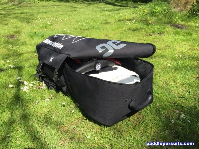 Aquaglide Cascade 11' standup paddleboard - large backpack for the SUP paddle pump