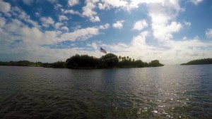 Paddle boarding in Vero Beach near Veterans Island