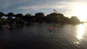 SUP yoga in vero beach florida