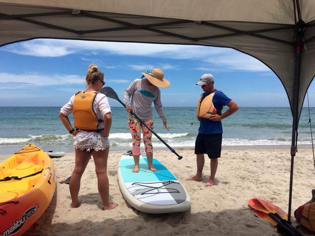 Paddle Board SUP rentals at the beach