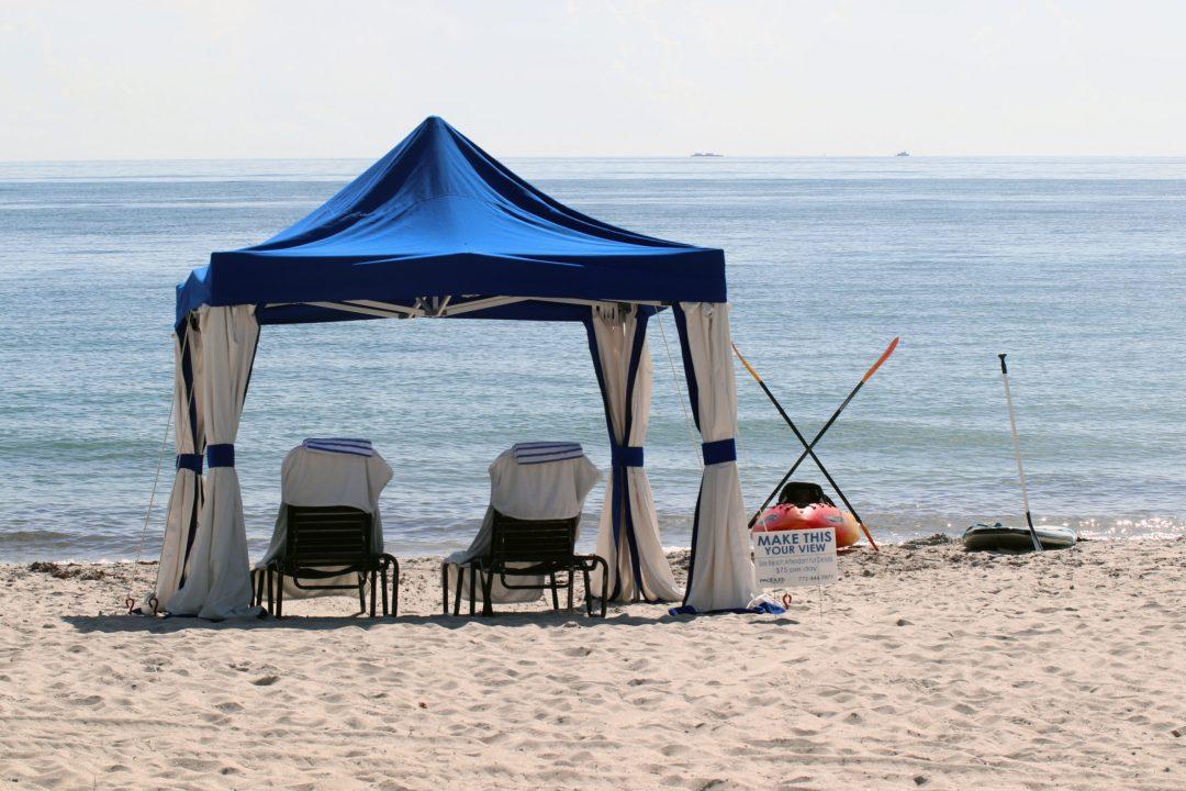 Cabana on the beach in Vero Beach