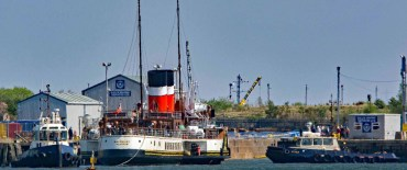 Waverley Leaves Dry Dock on 10th May