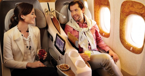Emirates is taking its business class meal service high tech - new mobile meal ordering devices will be used by Emirates cabin crew for First and Business Class passengers