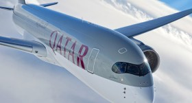 Qatar Airways Airbus A350 in flight