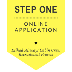 Etihad Airways Cabin Crew recruitment step by step process 2017 - Step One - Online Application