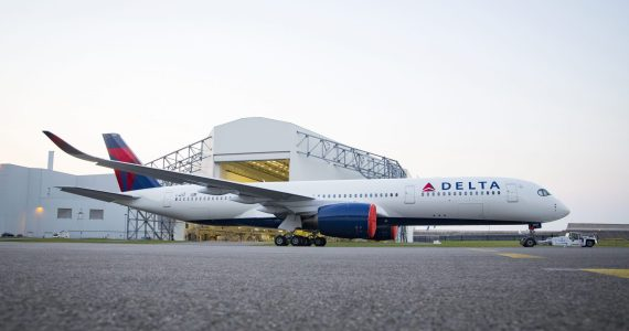 Delta Air Lines Gears Up for Delivery of its New A350 - Shows Off New Paint Job
