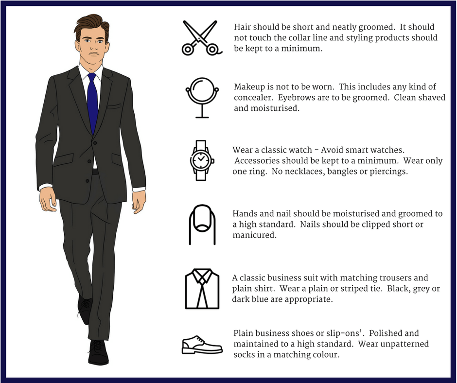 Cabin Crew Assessment Day and Final Interview grooming standards - Men