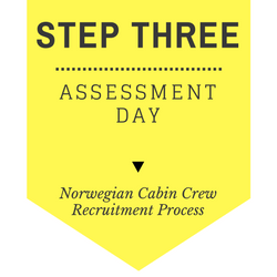Norwegian Cabin Crew recruitment - step by step process 2017 - Step 3 - Assessment Day