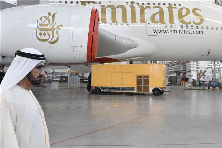 Dubai's Ruler Takes a Trip to the Airbus Plant in Hamburg to Personally Inspect the Next Emirates A380