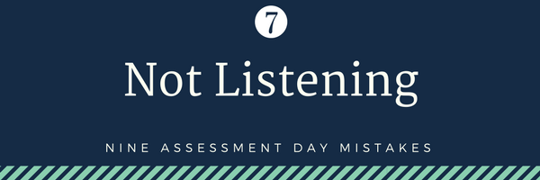 none cabin crew assessment day mistakes - 7. Not listening