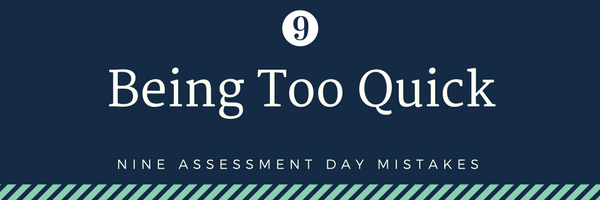 nine cabin crew assessment day mistakes - 9. Being too quick