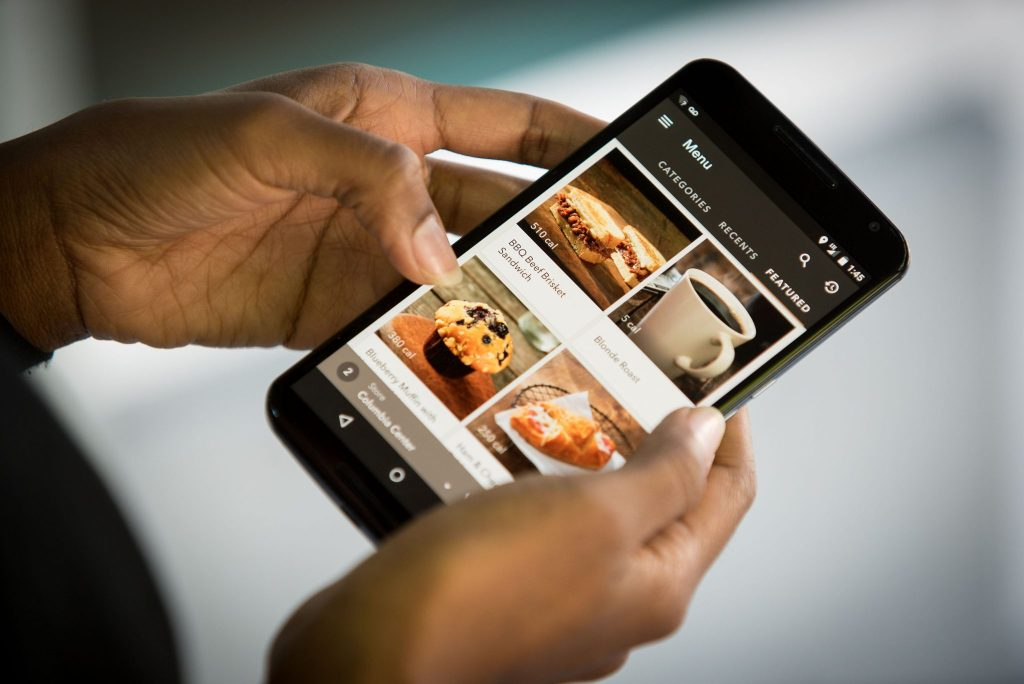 The Starbucks Mobile Order and Pay service makes it easy for customers to pre-order food and beverage. Photo Credit: Starbucks