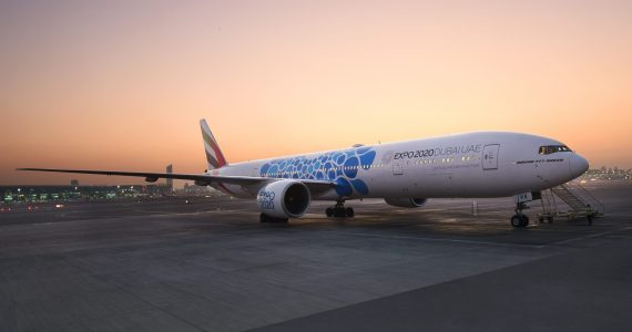 Emirates Painting 40 Aircraft with Special Designs in Preparation for the Dubai Expo 2020: Launches First Today