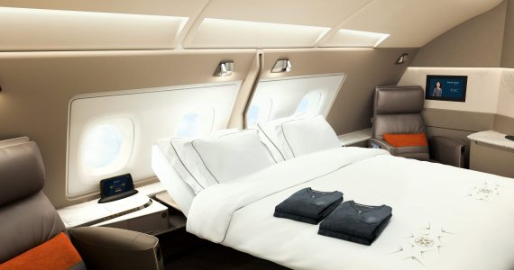 IN PICTURES: Singapore Airline Unveils A Spectacular New First Class Suite and A Double Bed in Business