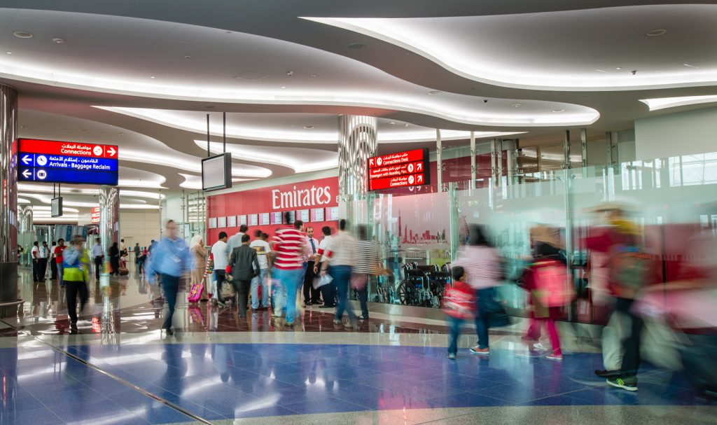 """""""85 percent of the world's population lives within an eight-hour flight of the Arabian Gulf..."""" - Has helped Emirates and Dubai International Airport become the largest hub for international air travel in the world. Photo Credit: Dubai Airports"""