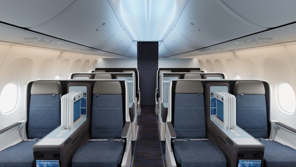 flydubai will offer 12 fully flat Business Class seats in a seperate cabin on its latest generation 737MAX aircraft. Photo Credit: flydubai