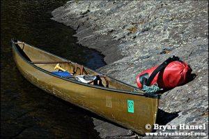 Bell Magic solo canoe on Brule Lake in the BWCA.