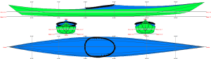 Siskiwit MC free kayak linesplan