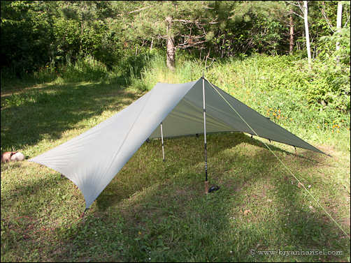 flat tarp setup in a modified pyramid & Three Easy Tarp Setups u2022 PaddlingLight.com