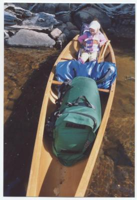 A picture of my Mad River Independence, 'Gypsy 42' in the Boundary Waters during a Mom-daughter trip. That is my daughter, Dani, living the life.