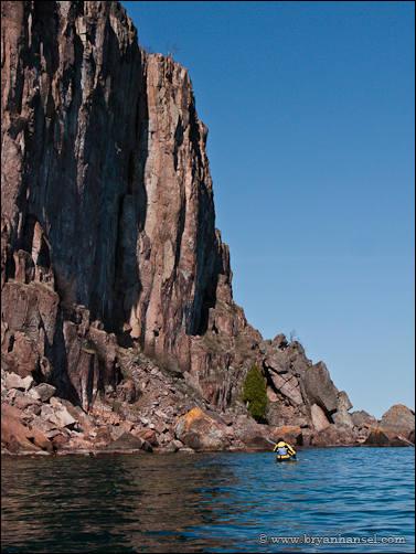 Kayaker and Palisade Head