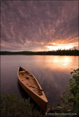 Sunset canoe BWCA