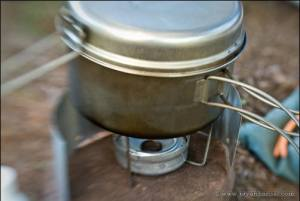Penny Stove cooking