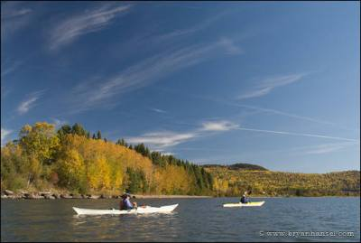 Kayakers in Grand Portage Bay.